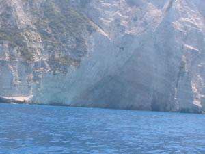Cruising the western coastline of Zakynthos