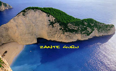 The famous shipwreck on Zante / Zakynthos