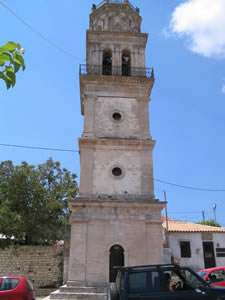 The bell tower at Kilomeno