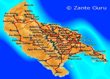 Map of Zante