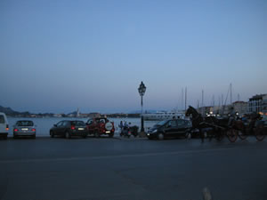 Zante Port at night